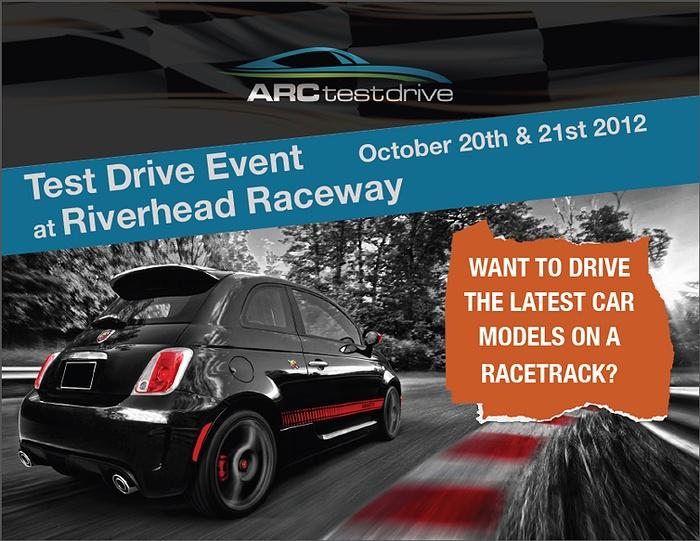 First ever riverhead raceway test drive event for Riverhead bay motors service