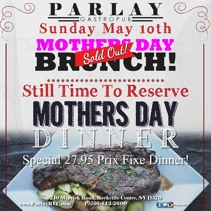 Our Long Island Mother's Day Brunch guide will help you find the perfect spot. Coach Grill & Tavern, Oyster Bay Nestled next to a small home, the flowered wallpaper walls and white tablecloths make this the perfect place for an upscale-but-casual meal with mom.