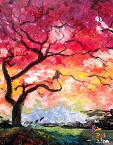 Paint Nite Under The Red Tree