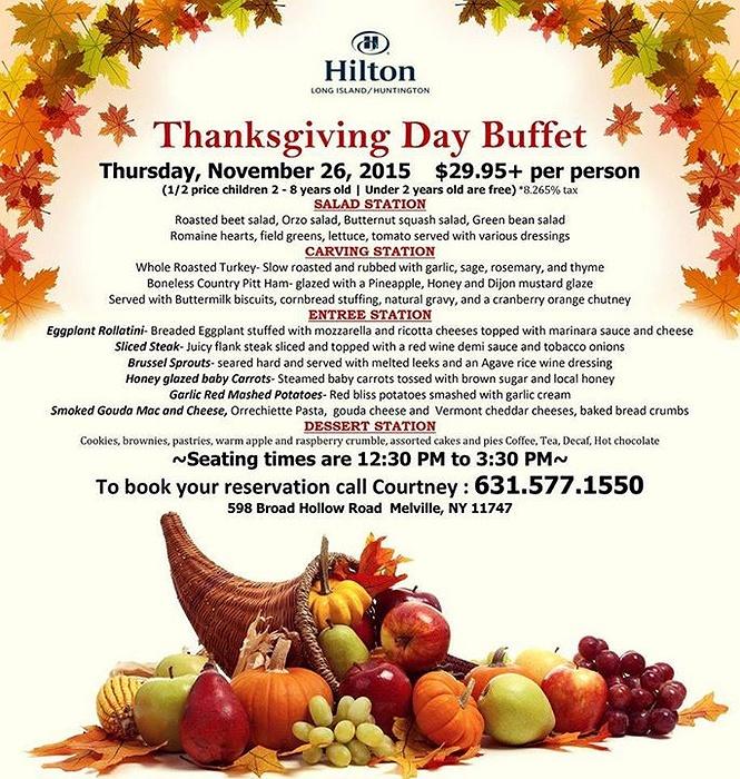Thanksgiving Dinner On Long Island