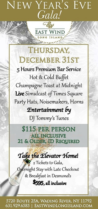 New Year's Eve Gala at East Wind
