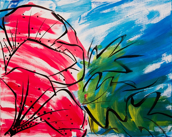 paint nite poppies for pete