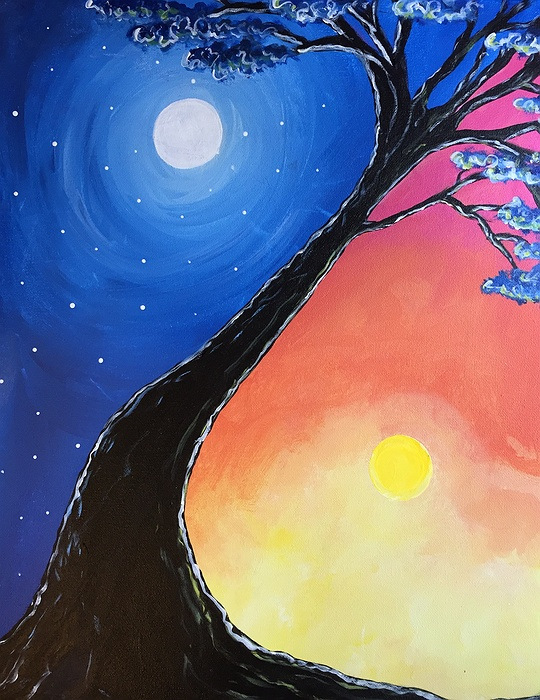 Paint Nite: Yin Yang Tree
