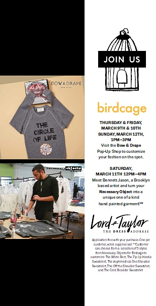 Lord Taylor Personalization Party In The Birdcage Shop