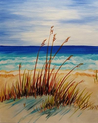 Paint Nite Peaceful Beach Afternoon