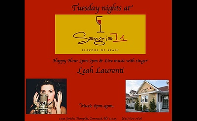 Tuesday Nights at Sangria 71 - Live Music with Leah Laurenti