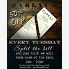 Half Off Tuesdays at Parl