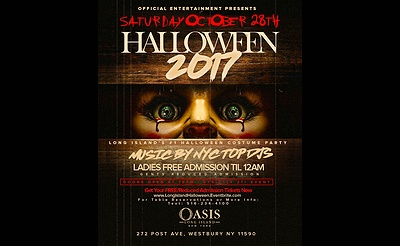 Long Island's #1 Halloween Costume Party at Club OASIS in Westbury