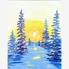 Paint Nite: Snowy Sunligh