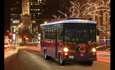 The 2017 NYC Christmas Express Holiday Trolley