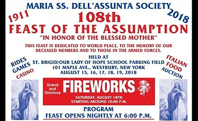 Maria SS. Dell'Assunta Society's 108th Feast of the Assumption