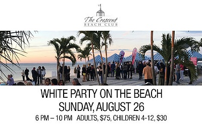 Crescent Beach Club's White Party On The Beach