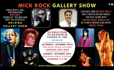 Iconic Rock & Roll Photographer Mick Rock Holding Gallery Show at The Jewelry Studio in Plainview