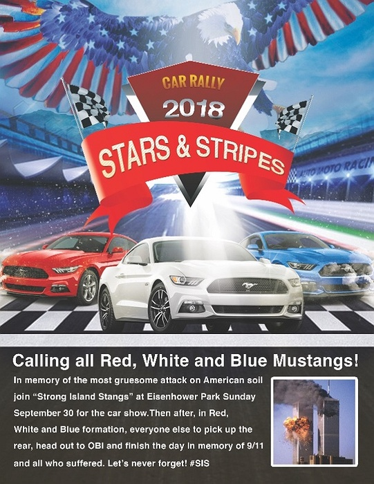 Stars Stripes Car Rally Calling All Red White Blue - Eisenhower park car show