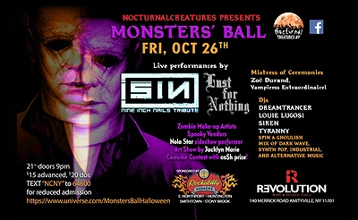 Nocturnal Creatures NY Presents Monsters' Ball