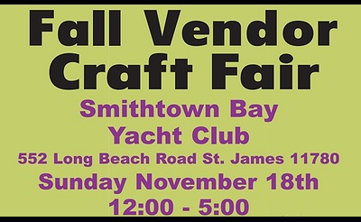 Fall Vendor Craft Fair Smithtown Bay Yacht Club