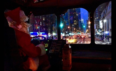 NYC Christmas Express Holiday Light Trolley Tour