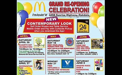 Free Hotcakes & Coffee for Veterans - McDonald's Oakdale Grand Re-Opening Celebration
